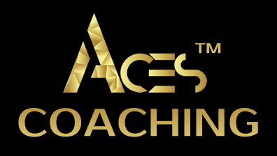sherrie clark courage to be seen logo gold aces coaching